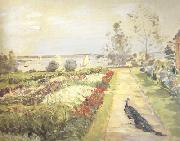 Max Slevogt Flower Garden in Neu-Cladow (nn02) oil painting
